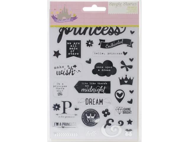 Enchanted Stickers 3 Sheets-1 Black, 1 White, 1 Silver