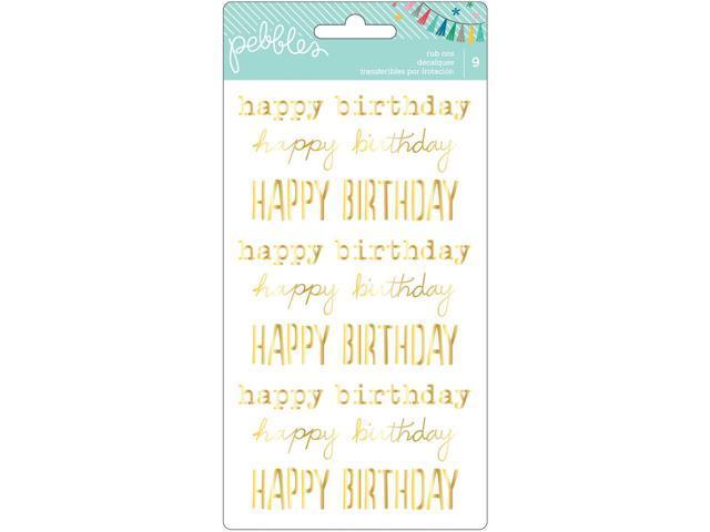 Birthday Wishes Rub-Ons 8