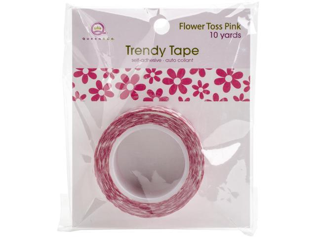 Queen & Co. Trendy Tape-Flower Toss Pink