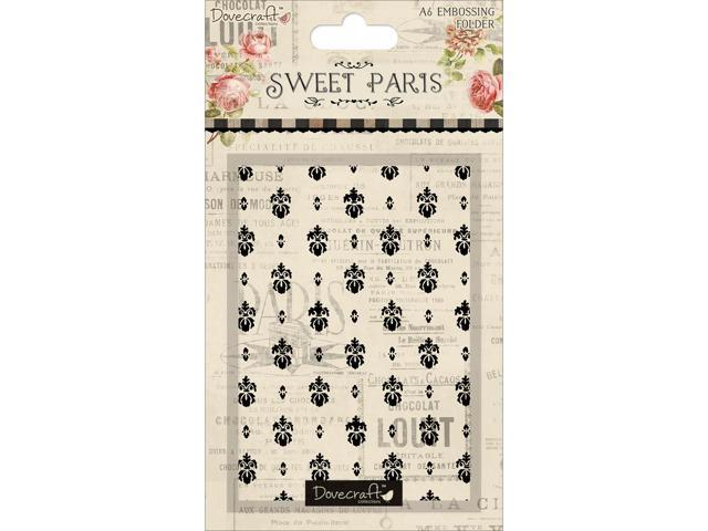 Sweet Paris Embossing Folder-Overall Damask-Esque