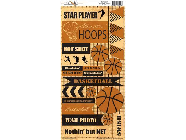 Basketball Cardstock Stickers-