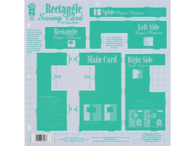 Hot Off The Press Template -Rectangle Swing Card