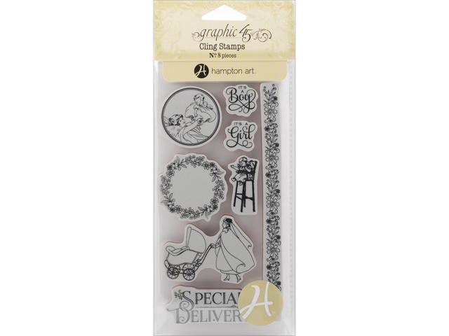 Graphic 45 Precious Memories Cling Stamps-Precious Memories 3