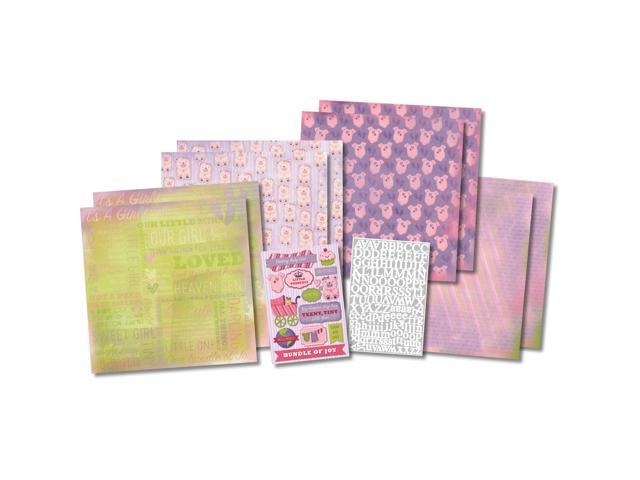 It's A Girl Scrapbook Page Kit 12