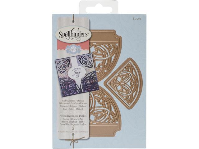 Spellbinders Designer Die-Arched Elegance Pocket By Becca Feeken