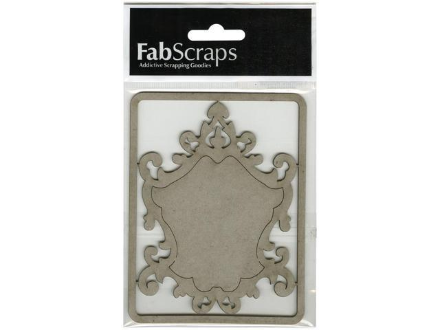 Die-Cut Gray Chipboard Embellishments-Ornate Frame, 4.5