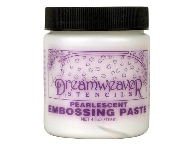 Dreamweaver Embossing Paste 4Oz-Pearlescent