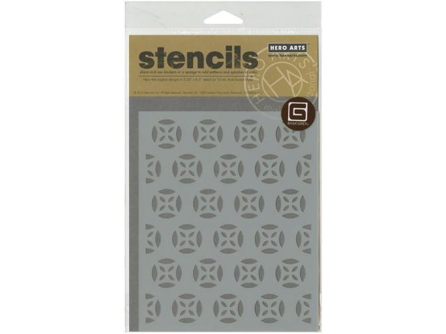 Basic Grey Prism Frosted Mylar Stencil By Hero Arts-Medallion