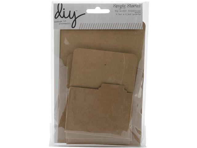 Diy Foundations Pockets 6/Pkg-Kraft (2) 4