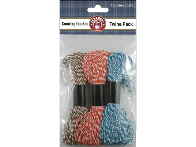 Country Cookin' Twine 75M-3 Colors/25M Each