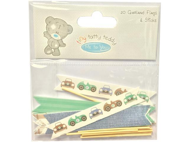 Tiny Tatty Teddy Garland Flags 20/Pkg-Boy