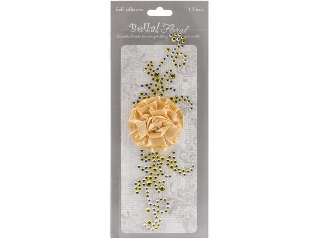 Bella! Bling & Fabric Trim Embellishments-Gold