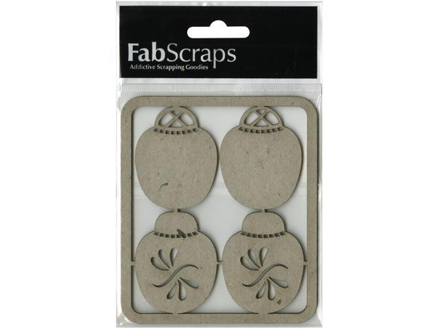 Die-Cut Gray Chipboard Embellishments-Ginger Jars Small 4/Pkg, 4
