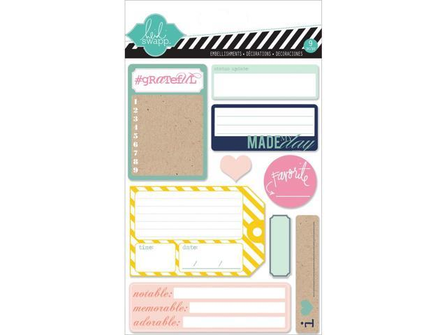 Hello Today Adhesive Back Paper Stacks-9 Journal Spot Designs/10 Each