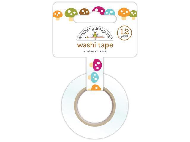 Happy Camper Washi Tape 15Mmx12yd-Mini Mushrooms