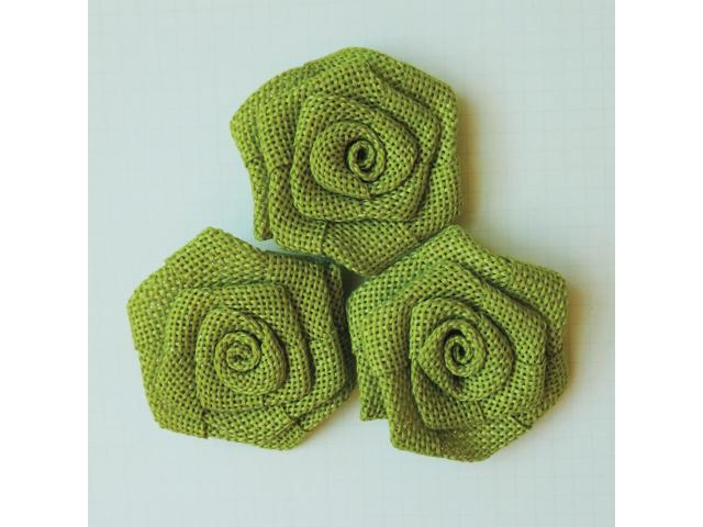 Vintage Linen Burlap Roses 2