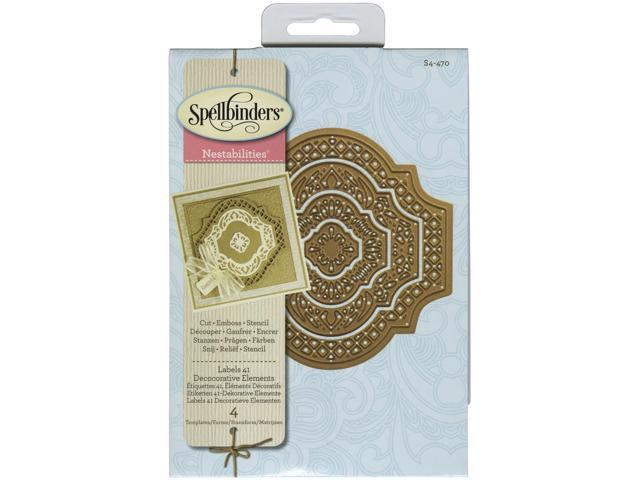 Spellbinders Nestabilities Dies-Labels 41 Decorative Elements