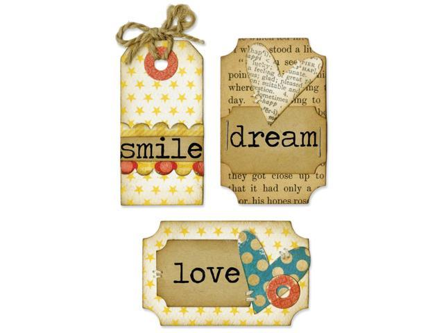 Sizzix Framelits Dies 6/Pkg W/Stamps-Tags & Words