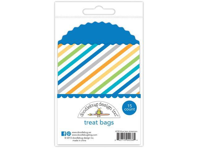 Hip Hip Hooray Kraft Bag-Blue Jean Streamers