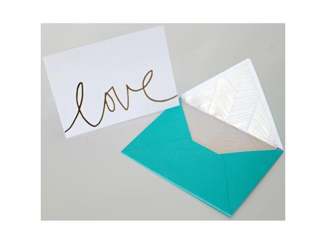 Studio Gold Foiled Cards W/Envelopes 5.25