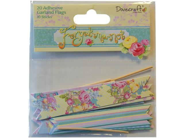 Forget-Me-Not Garland Flags-