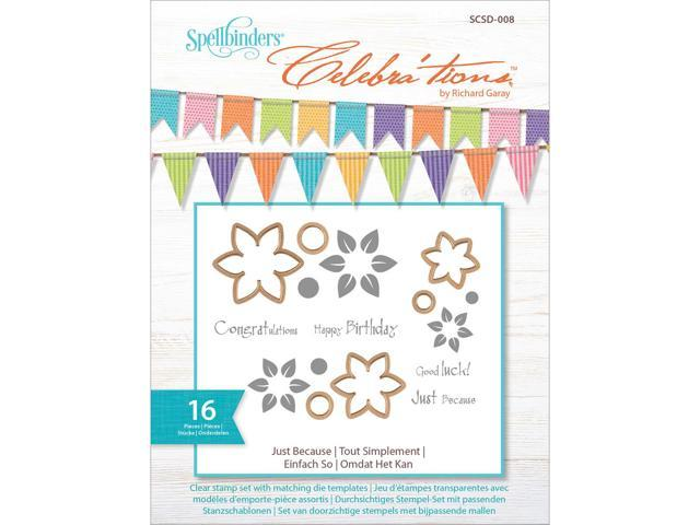 Celebra'tions Dies W/Stamps 16/Pkg-Just Because