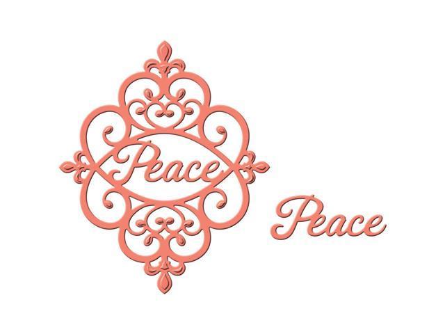 Spellbinders Shapeabilities Die D-Lites-Peace Sentiment