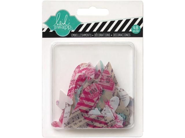 Hello Today Clear Pop Acrylic Embellishments-Hearts 48/Pkg