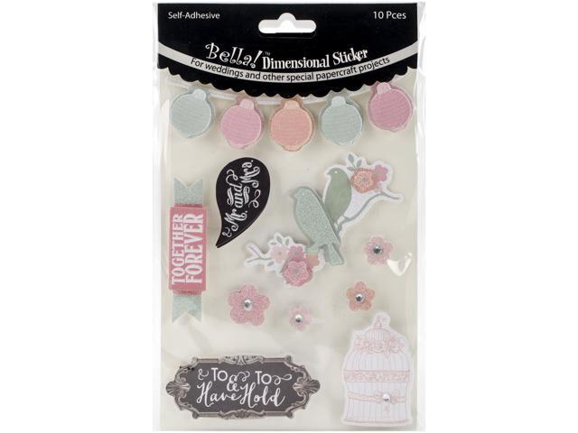 Bella! Rustic Charm 3D Stickers-