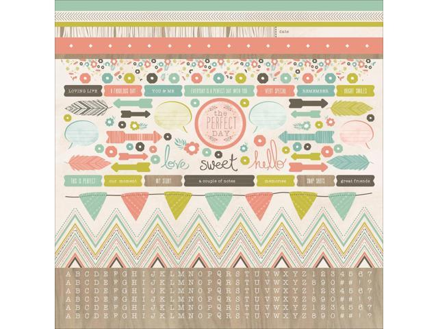 Bow & Arrow Cardstock Stickers 12