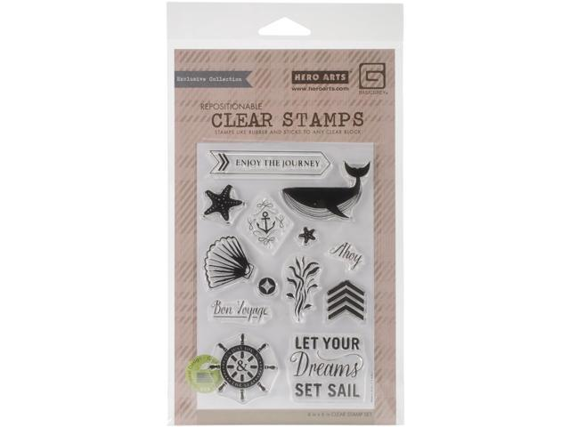 Basic Grey Adrift Clear Stamps By Hero Arts-Set Sail