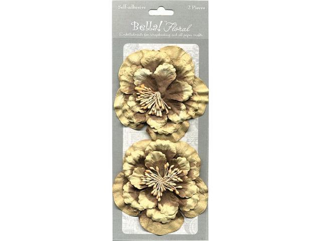 Bella! Paper Florals 2/Pkg-Chocolate
