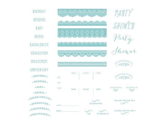 Lifestyle Letterpress Plates-Formal Invite