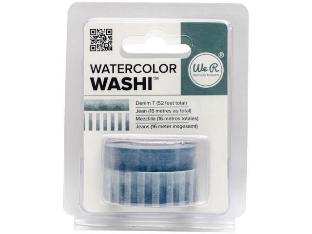 We R Watercolor Washi Tape 2/Pkg-Denim