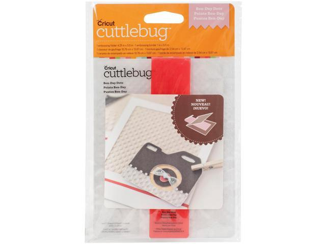 Cuttlebug A2 Embossing Folder/Border Set-Ben-Day Dots