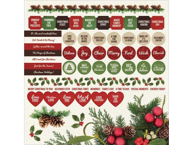 Basecoat Christmas Cardstock Stickers 12