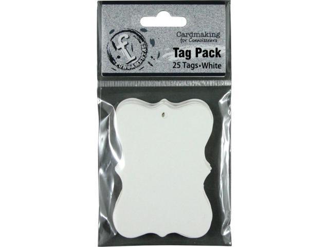 Fundamentals Tags 25/Pkg-Small Scallop/White