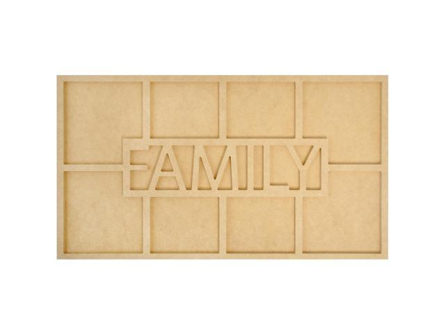 Beyond The Page Mdf Family Word Frame W/8 Openings-19.75