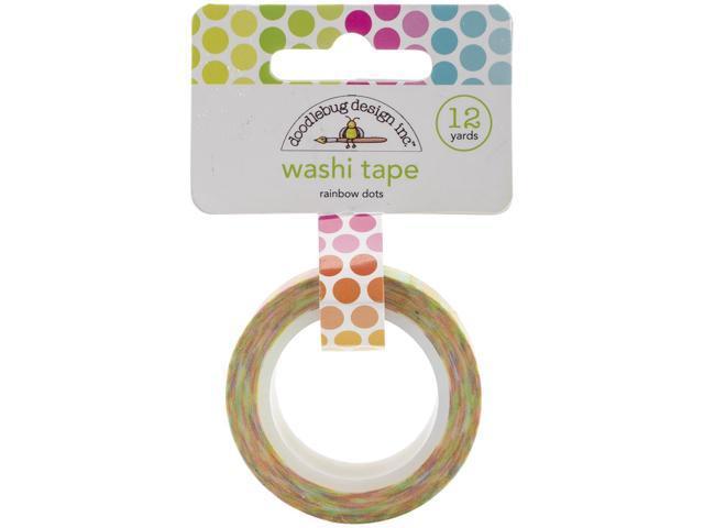 Washi Tape 15Mmx12yd-Rainbow Dots
