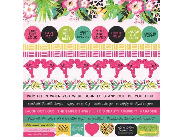 Say Aloha Cardstock Stickers 12