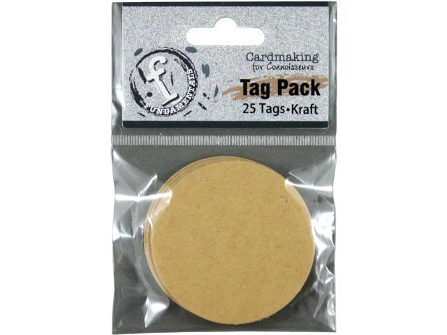 Fundamentals Tags 25/Pkg-Small Circle/Kraft