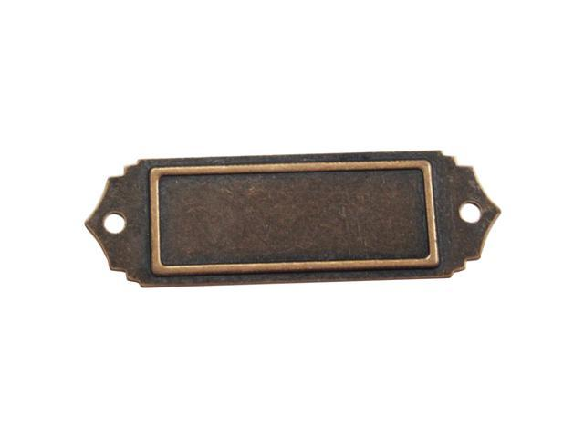 Brass Embellishments 10/Pkg-Scalloped Name Plate
