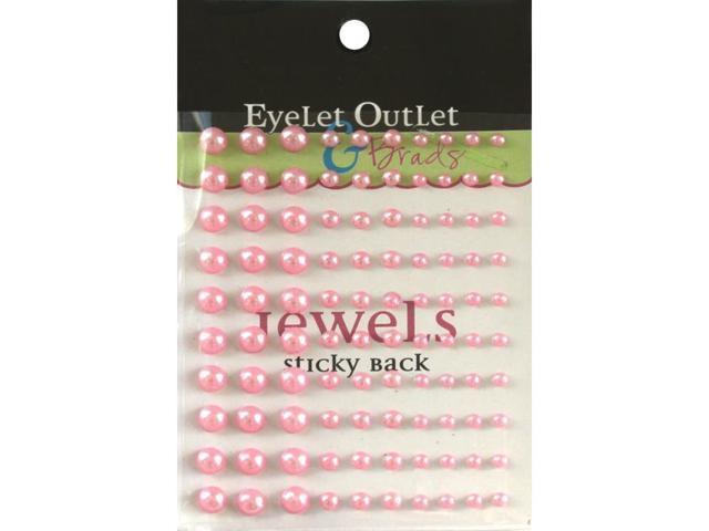 Bling Self-Adhesive Pearls Multi-Size 100/Pkg-Pink
