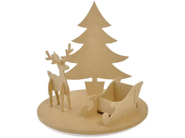 Beyond The Page Mdf Rotating Christmas Scene-11.75