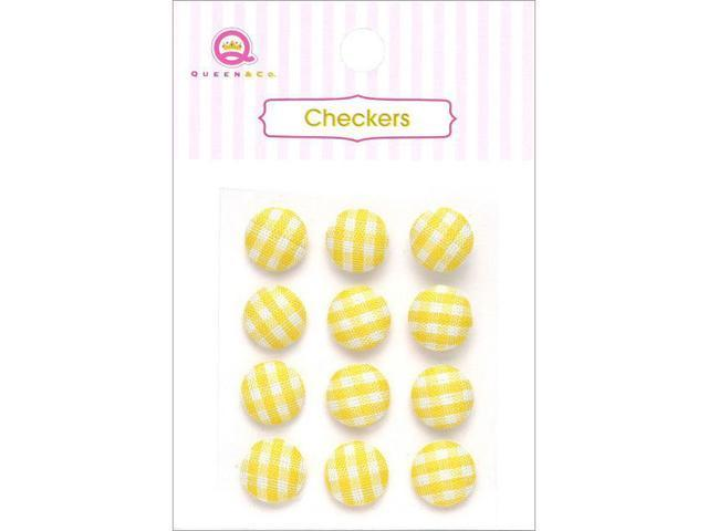 Checkers Self-Adhesive Gingham Fabric Dots .375