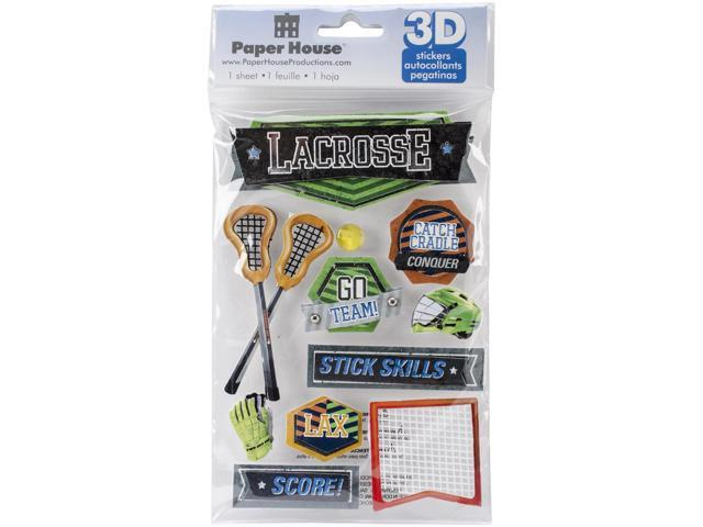 Paper House 3D Stickers-Lacrosse