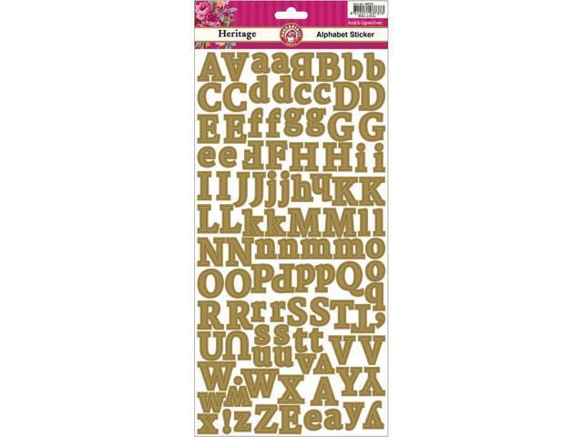 Heritage Cardstock Scrapbooking Stickers-Alphabet