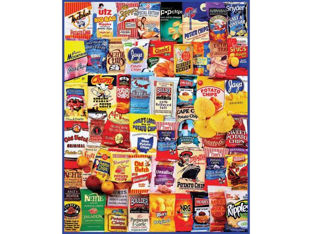 Potato Chips 1000 Piece Puzzle by White Mountain Puzzles