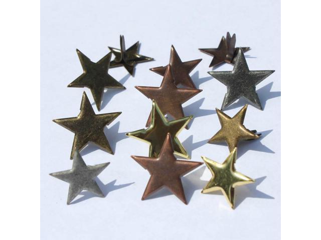 Eyelet Outlet Shape Brads 12/Pkg-Star
