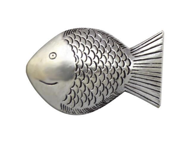 Silver Embellishments 10/Pkg-Fish #1